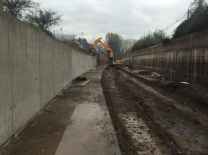 Muros borde derecho y radier en Canal San Carlos entre Arrieta y Las Parcelas2